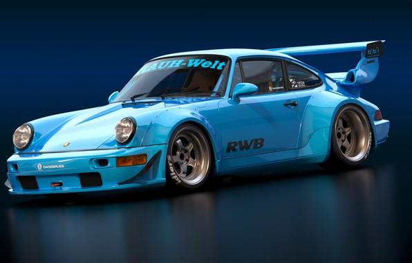 Picture Auto, Machine, Car, Auto, Render, Rendering, Sports car, Sportcar, RWB, RWB Porsche, Porsche 993, Transport …