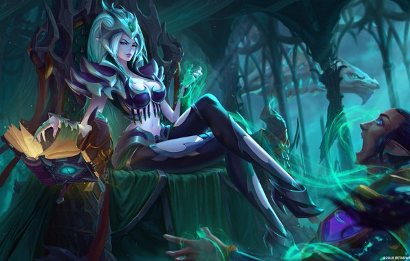 Picture Girl, Fantasy, Art, Style, Illustration, Book, Character, Katya Cyan, Spell, Morellia the Lich Queen!, Morellia