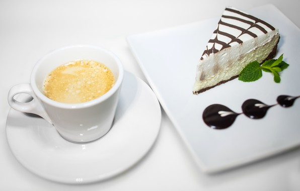 Picture coffee, Cup, cake, cappuccino