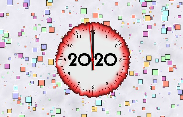 Picture background, arrows, New Year, dial, 2020