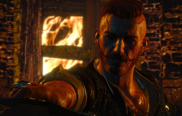 Picture flame, flame, The Witcher, night, DLC, Witcher, The Witcher 3 Wild Hunt, The Witcher 3, …