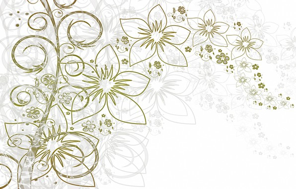 Picture leaves, flowers, background, texture, flowers
