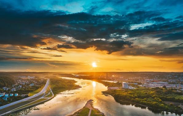 Picture morning, Lithuania, Kaunas, Santaka