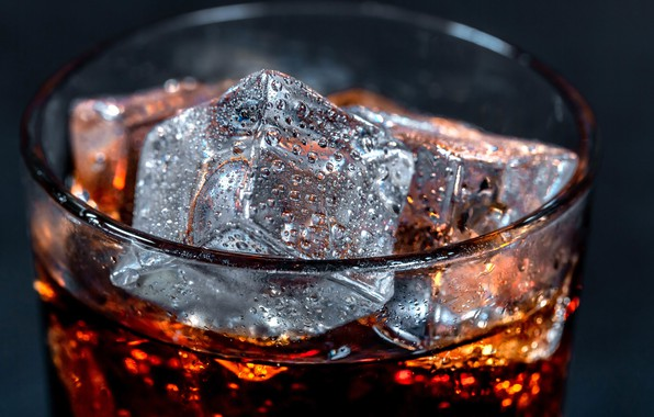 Picture macro, ice, cube, drink, Cola