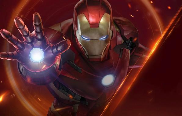 Picture background, art, costume, Iron Man, comic, MARVEL