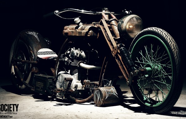 Picture Chopper, Custom, Rims, Engine, Motorcycle, Spokes