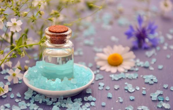 Picture macro, photo, bottle, Spa, salt