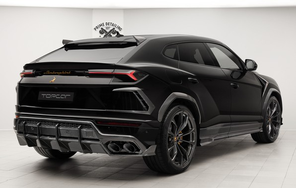 Picture Lamborghini, rear view, 2018, Ball Wed, Urus