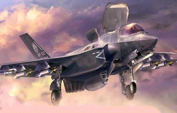 Picture USA, F-35B, F-35 Lightning II, Vertical landing, (STOVL)