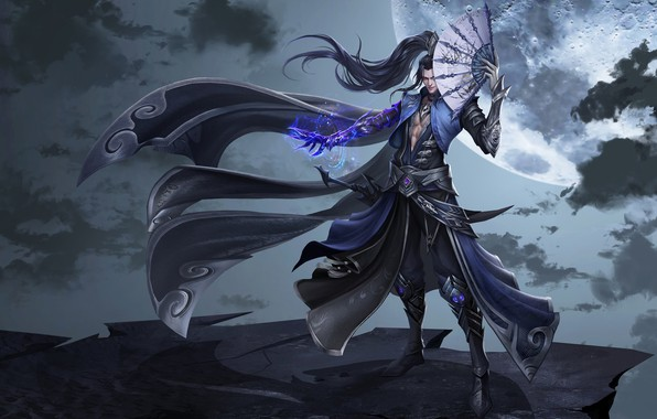 Picture magic, the game, fantasy, fan, art, Skil, costume design, LIU Mingxing