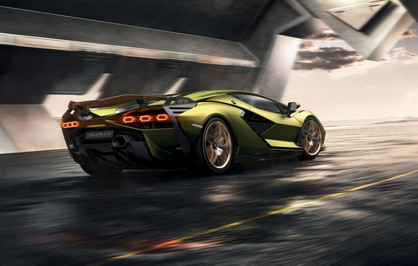 Picture machine, Lamborghini, supercar, hybrid, Later