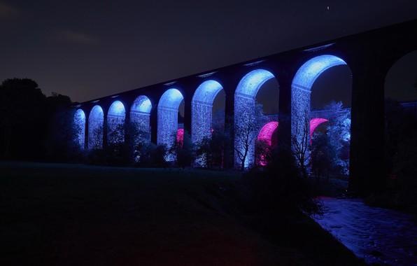 Picture night, bridge, color