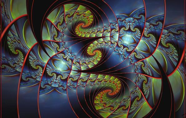 Picture spiral, rotation, fractal, digital art, fractal, digital art, spirals, rotation