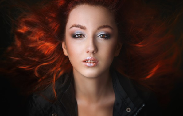 Picture portrait, makeup, sponge, teeth, Alexander Drobkov-Light, Anastasiya Germanova