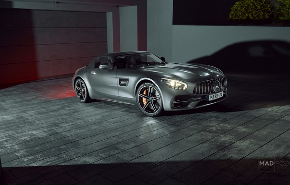 Picture Auto, Night, Machine, Grey, Car, Mercedes-Benz AMG, Transport & Vehicles, Mercedes-Benz AMG GT C Roadster, …