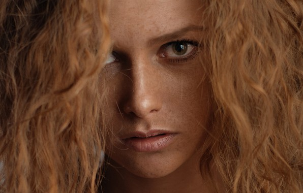 Picture hair, freckles, red, sponge, Eugene Balin