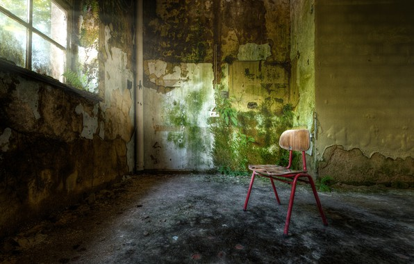 Picture room, window, stool, naturalism