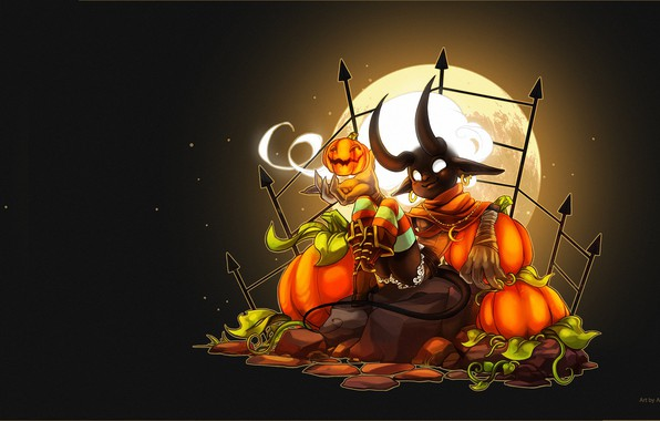 Picture fantasy, art, Halloween, & Halloween Loading Screen, Sayael Nu, Fiesta Online - Candle Ghost