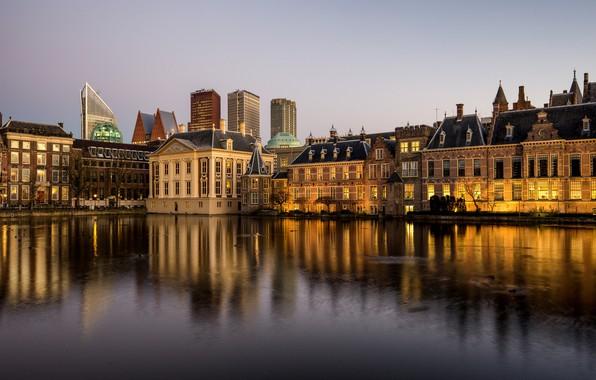 Picture Netherlands, Holland, The Hague, Hofvijver