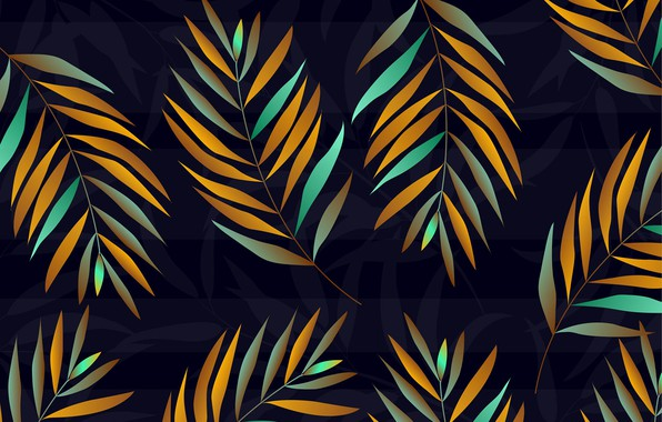 Picture leaves, blue, background, texture