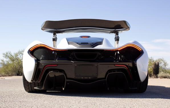 Picture McLaren, McLaren, Hypercar, Back, Spoiler, P1