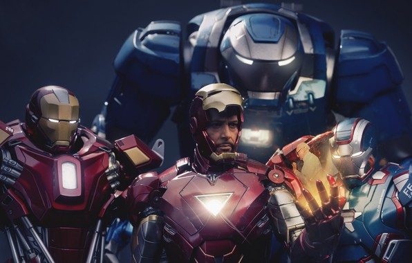 Picture Iron Man, Marvel, RED, Tony Stark, Film