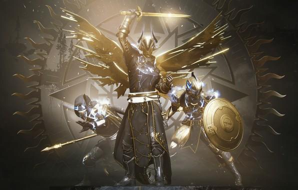 Picture Sword, Armor, Glow, Hunter, Bungie, Shield, The warlock, Titan, Destiny, Spear, 2020, Arrival, Destiny 2, …