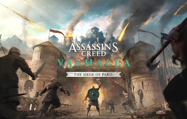 Picture Paris, fortress, storm, Assassin's Creed Valhalla