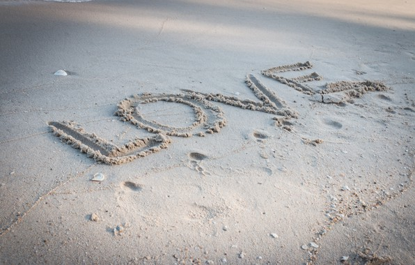 Picture sand, beach, summer, love, summer, love, beach, sea, romantic, sand