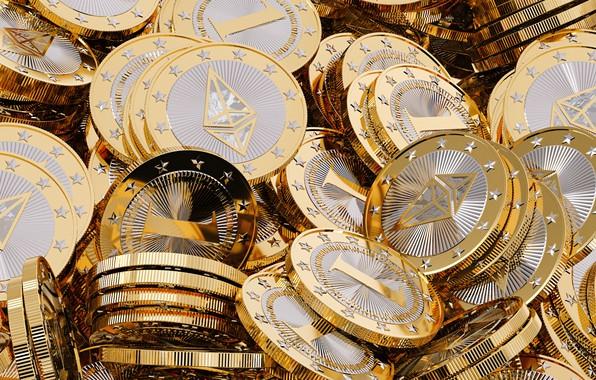 Picture logo, logo, coins, clarification, the air, eth, ethereum