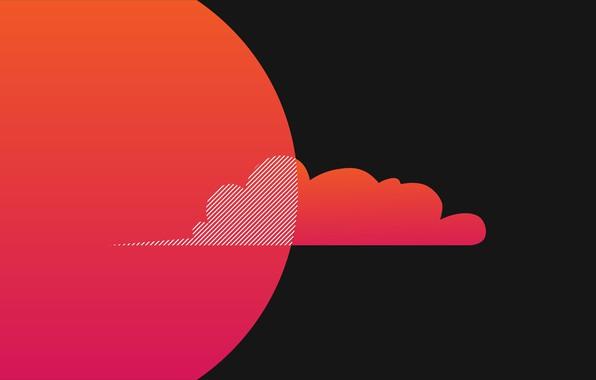 Picture minimalism, texture, cloud