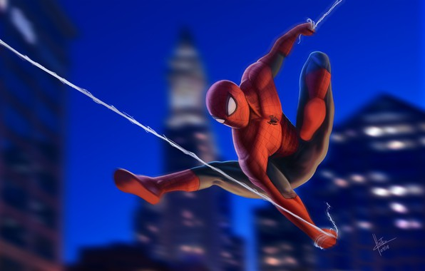Picture Night, New York City, Marvel, Peter Parker, Spider Man, Fly