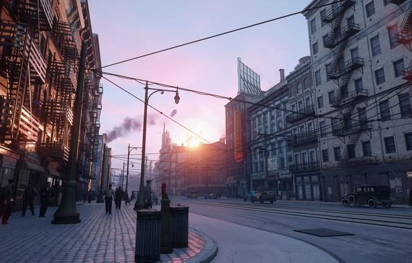 Picture city, day, signs, slush, the city of lost heaven, Mafia, Hangar 13, Mafia definitive edition, …