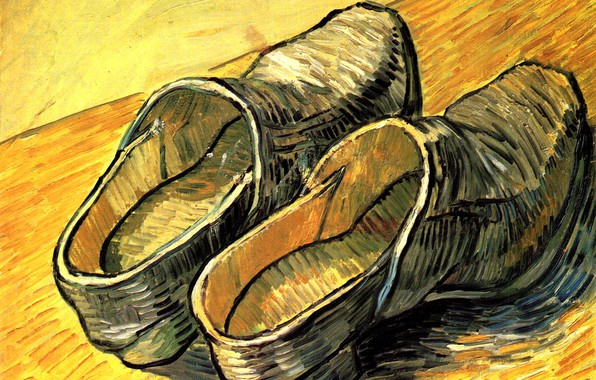 Picture shoes, Vincent van Gogh, Arles, A Pair of Leather Clogs