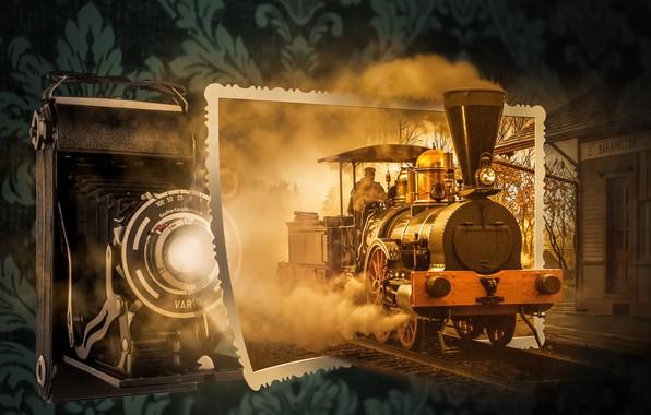 Picture train, camera, installation