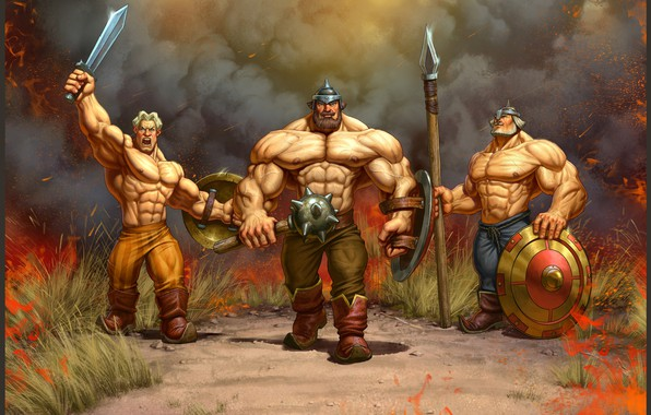 Picture summer, mood, Russia, three heroes, Stepan Gilev, A hero with musculature.