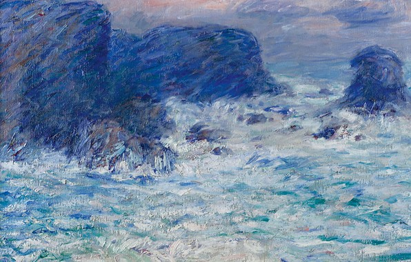 Picture sea, rocks, picture, seascape, John Peter Russell, John Peter Russell, Auchien Rock at Belle-Ile