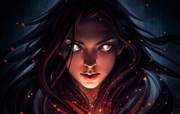 Picture look, girl, face, hair, fantasy, art, art