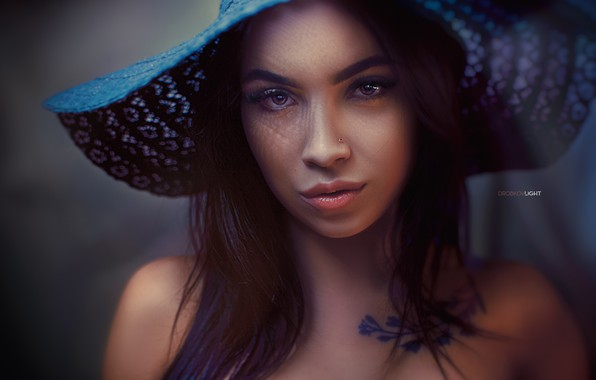 Picture look, girl, face, portrait, hat, Alexander Drobkov-Light, Angelina Sorokina