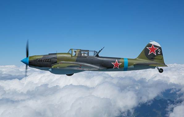 Picture The plane, The Second World War, Il-2, Attack, Il-2M3, THE RED ARMY AIR FORCE