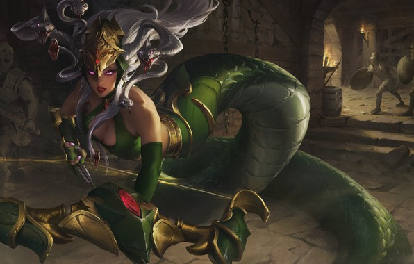 Picture the game, bow, fantasy, art, Medusa, XiaoGuang Sun, Legend of Ace, Legend of Ace - …