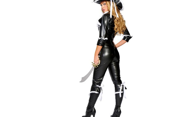 Picture girl, weapons, pirates, cosplay model