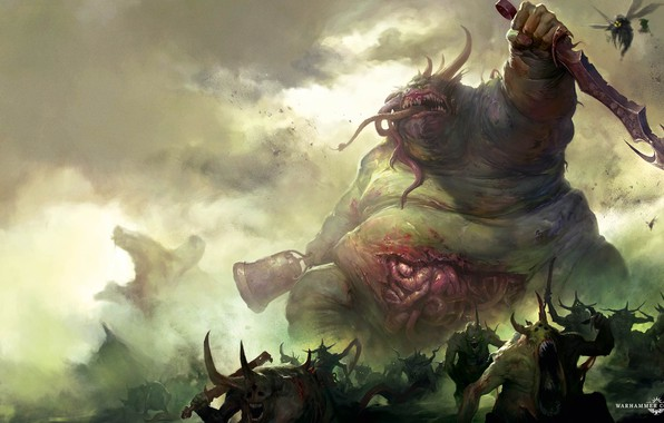 Picture chaos, demons, chaos, Nurgl, Warhammer, plague, demons, Warhammer 40 000, plague, Nurgle, The Great Unclean, …