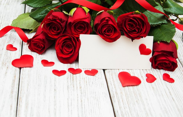 Picture love, flowers, roses, hearts, red, red, love, wood, flowers, romantic, hearts, valentine's day, roses