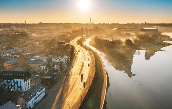 Picture fog, morning, Lithuania, Kaunas