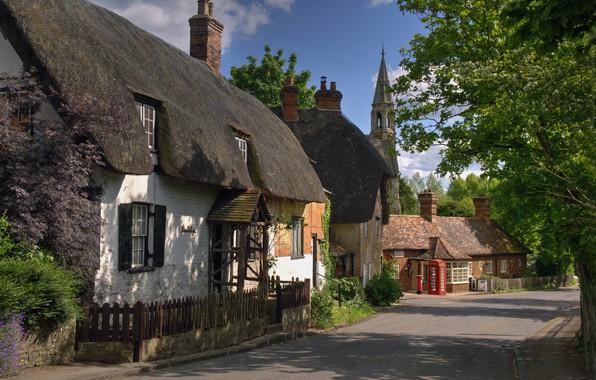 Picture street, village, home, UK, Oxfordshire, Clifton Hampden, Clifton Hampden