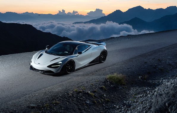 Picture sunset, McLaren, supercar, 2018, Novitec, 720S