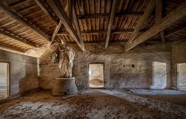 Picture background, statue, attic