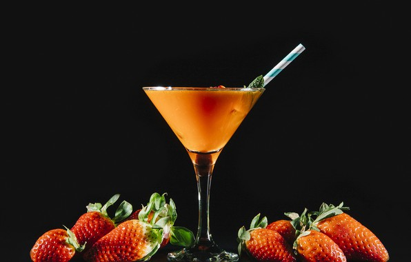 Picture berries, strawberry, cocktail, drink