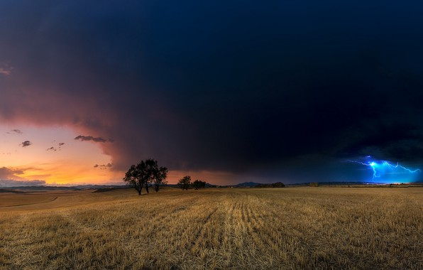 Picture the storm, field, summer